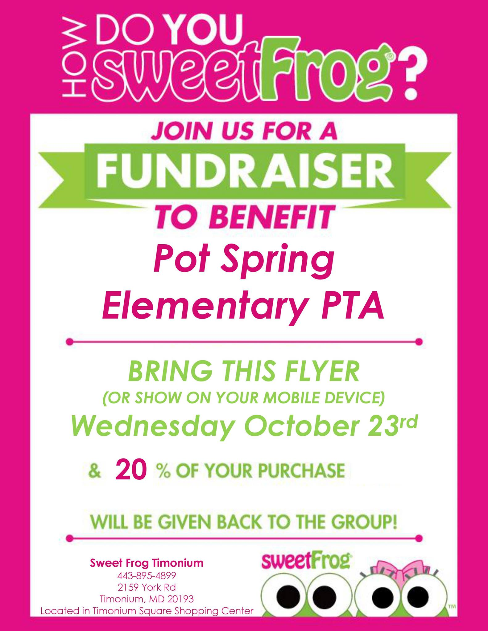 Join us at SweetFrog