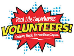 Volunteers are superheroes
